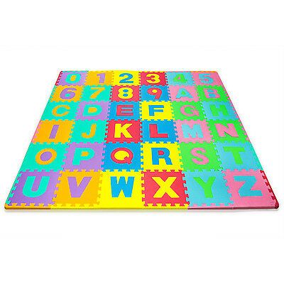 "Toddler Foam Floor Play Mat Puzzle 36 Pieces 12""Tile Baby Gym Kids Soft Playmat"