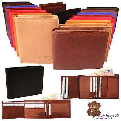 Leder Tri-fold Brieftasche (NEU Lederbörse Geldbörse Leder Geldbeutel Portemonnaie Portmonee Herren Damen)