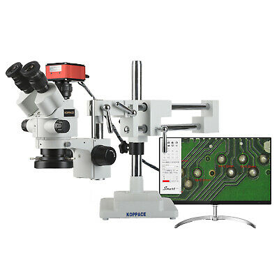 Koppace 4k Hd Stereo Measurement Microscope 3.5x-180x 4k Pictures And Videos