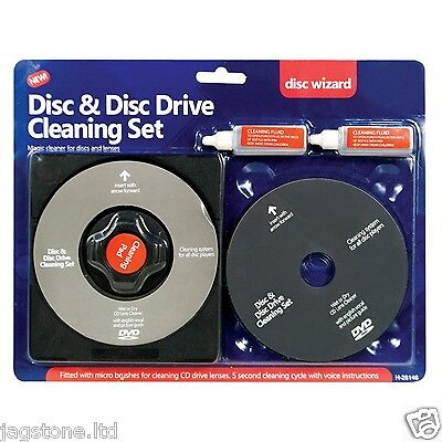 Cd Lens Cleaner (CD/DVD Disc LENS CLEANER/CLEANING SET TOR LAPTOP COMPUTER PS2 PS3 PS4 WII XBOX)