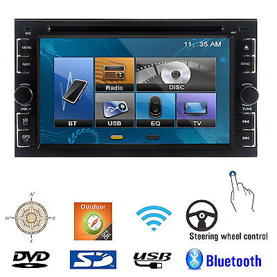 "Double 2Din 6.2"" Car Stereo DVD CD MP3 Player HD In Dash Bluetooth Ipod TV Radio on Rummage"