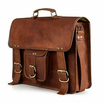 Best Of Men Real Vintage Brown Leather computer Messenger Shoulder Laptop