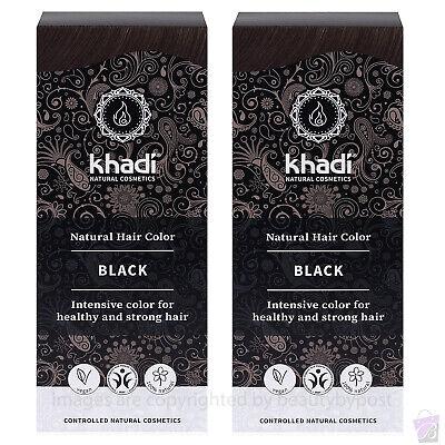 Khadi Herbal Hair Colour Black 100g Pack of 2