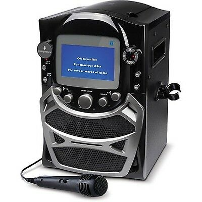 Singing Machine CD G Karaoke Bluetooth System Microphone Portable Monitor Black