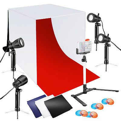 "Neewer 24x24"" Tabletop Lightbox Light Tent Lighting Kit with Color Backdrops"