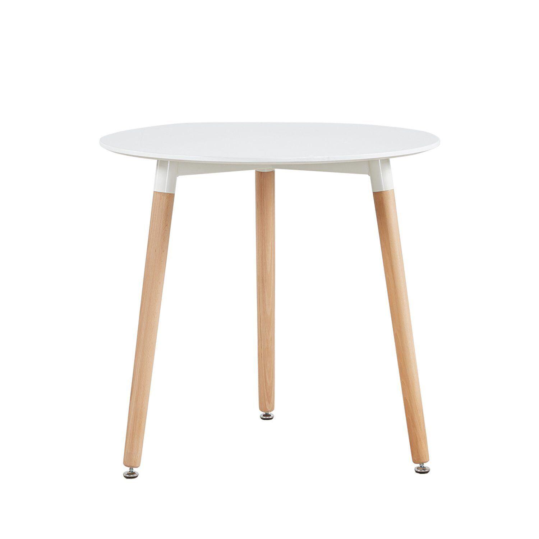Cocina Mesa de Comedor, Moderno Ronda Mesa y patas de madera de haya, 80*80*72cm