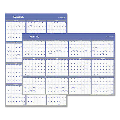 (At-A-Glance Vertical/Horizontal Erasable Wall Planner 32 x 48 2019 A1152)