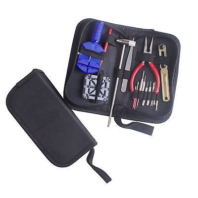New 16pc Watch Repair Tool Kit Link Remover Spring Bar Tool Opener Screwdriver