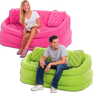 Intex-Cafe-Loveseat-Chair-Inflatable-Gaming-Lounge-Sofa-Dorm-Chair-NEW