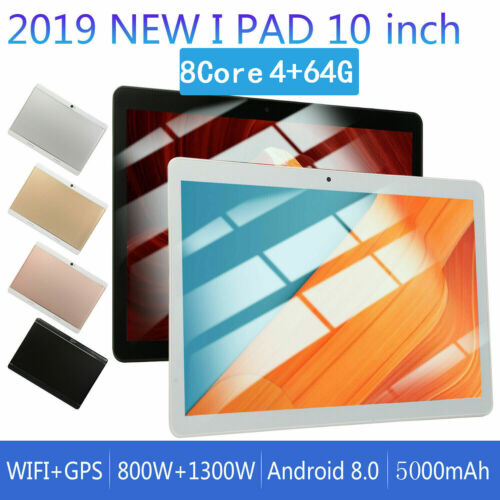 Android 8.0 10.1 Inch 64GB HD Game Tablet Computer PC GPS WI
