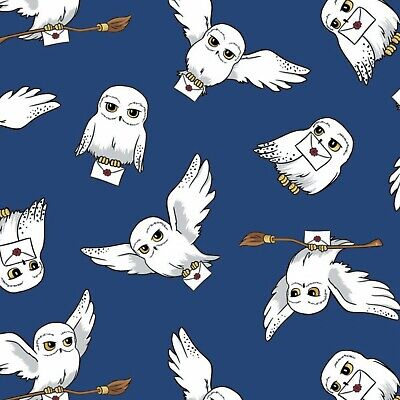 Harry Potter Hedwig Fabric - Cotton Fabric Material