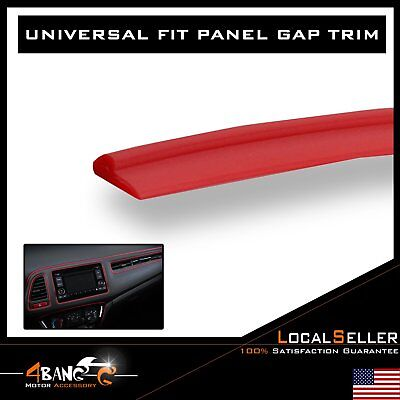 32ft Car Auto Interior Panel Gap Molding Trim Strip Red Door Decorate Accessory
