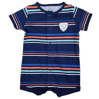 Carter's Baby Romper - Boys - Short Sleeve - I'm a Wild One Boys Short Sleeve Romper