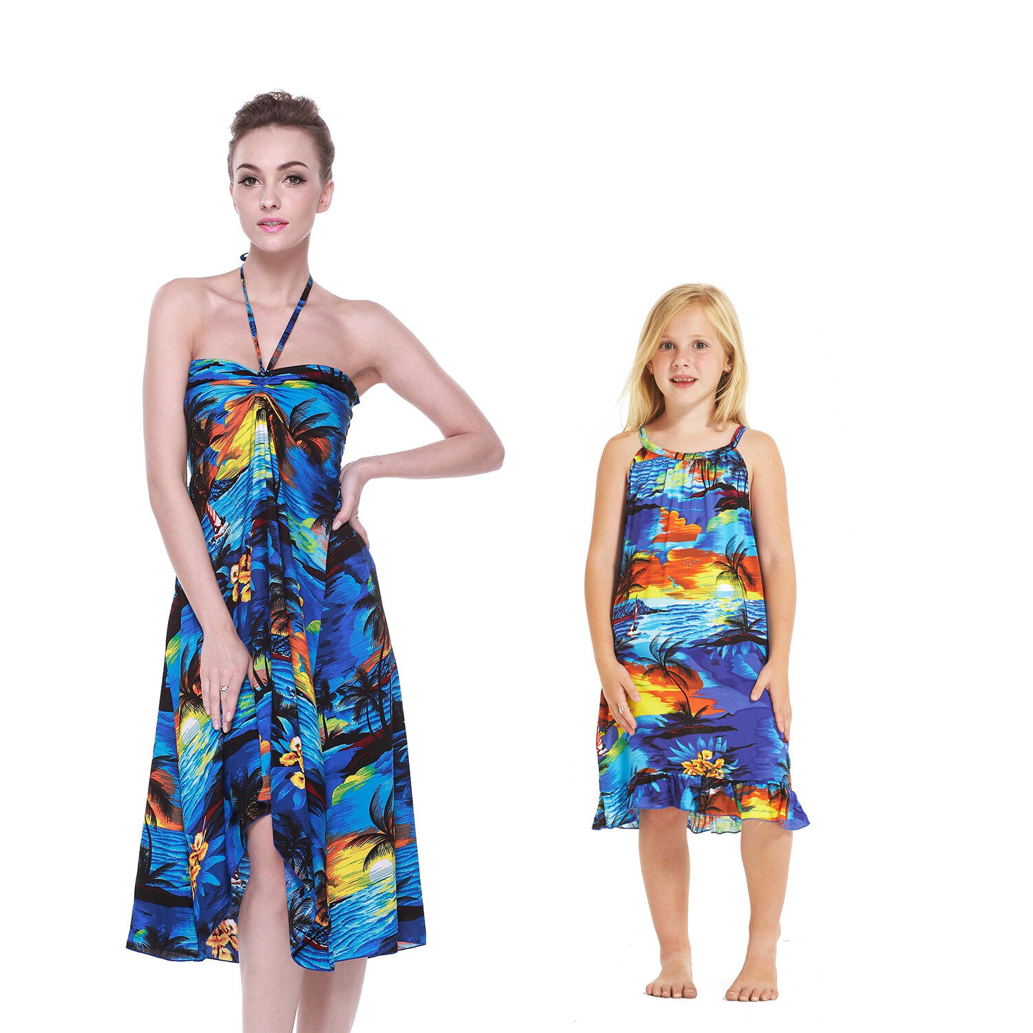 Mother Daughter Matching Dress Outfit Hawaiian Cruise Lua...