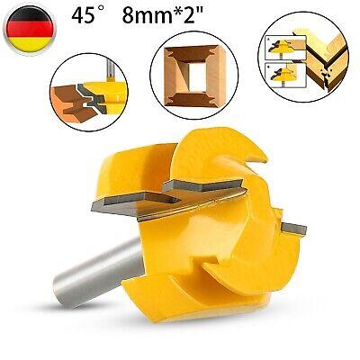 Nut Und Federfräser Holz Fräser Bearbeitung 45°T-Nutfräser Werkzeug Schaft 8mm