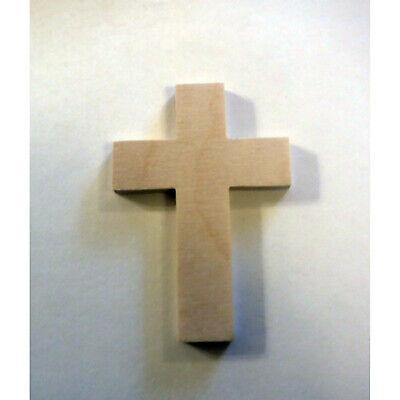 Unfinished wooden cross.  Wooden craft supplies.