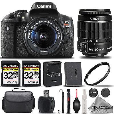 Canon EOS Rebel T6i SLR Camera + 18-55mm STM Lens + 64GB -Basic Accessory Bundle