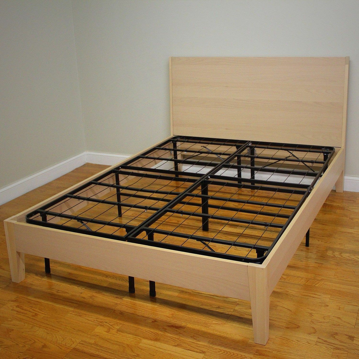 Mattress Bed Frame Full Size No Noise Base Box Spring Metal