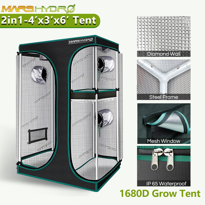 Mars Hydro Indoor Grow Tent 1680D Plants Mylar Room Reflective Home Garden Box