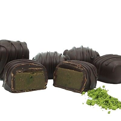Philadelphia Candies Japanese Matcha Green Tea Meltaway Truffles, Dark - Cocoa Green Tea
