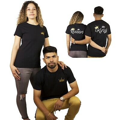 Her King His Queen Matching Power Couple T-shirts Custom Boyfriend Girlfriend ](Couple Customs)