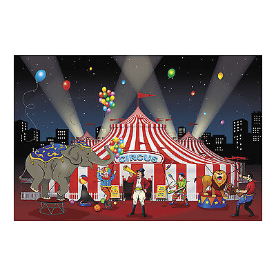 Tent Banner (BIG TOP CIRCUS CARNIVAL tent PARTY DECOR wall mural backdrop photo prop)