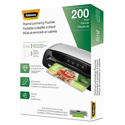 Fellowes Laminating Pouches Letter Size Hot Pouch 9 X 11.5 5 Mil 200 Pack