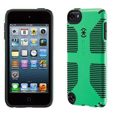 (Speck Products CandyShell Grip Case for iPod Touch 5 (Sour Apple Green/Black) )