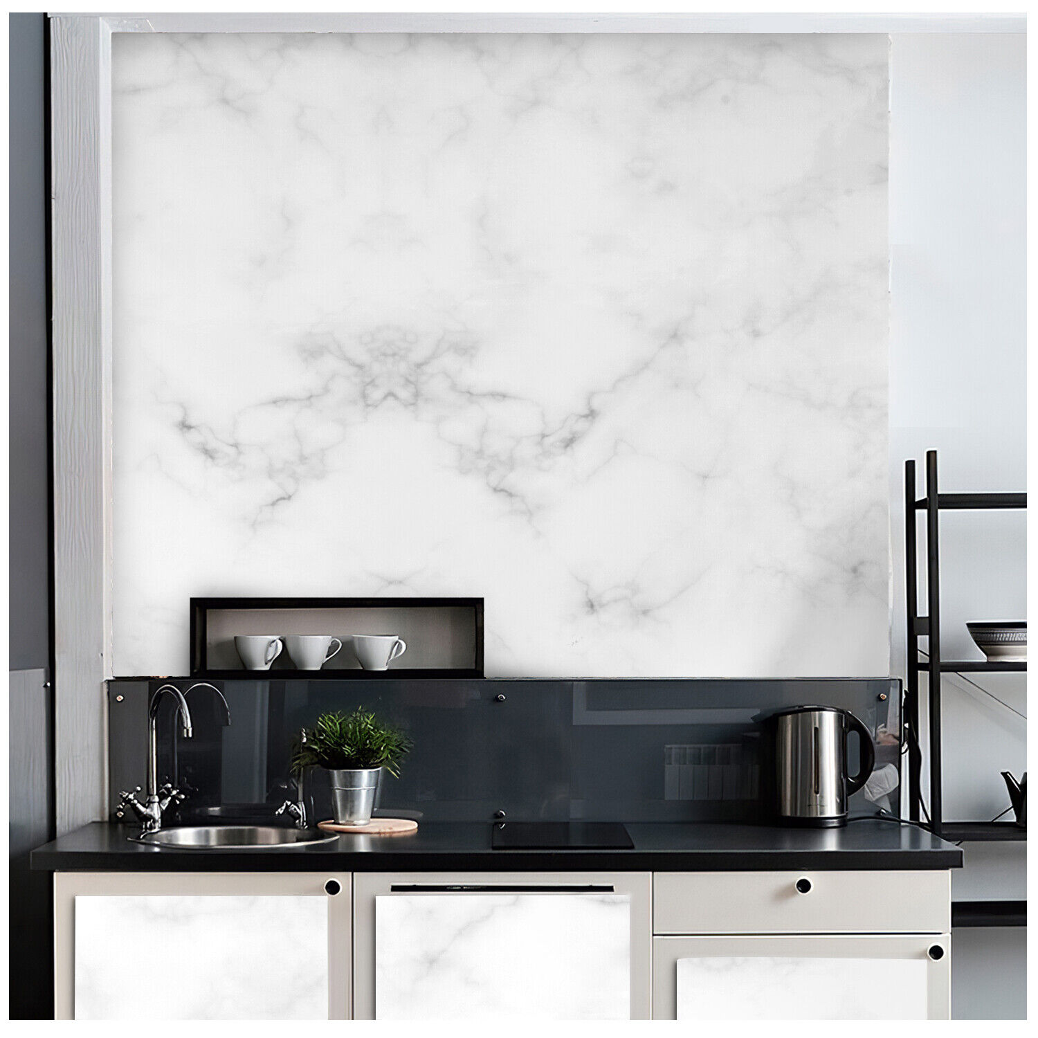 Marble Contact Paper Self Adhesive Peel & Stick Wallpaper PVC Kitchen Countertop Building & Hardware