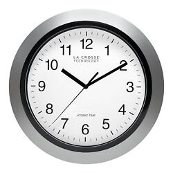 Automatic Updates Analog Atomic Wall Clock with 4 Time Zone Settings BRAND NEW