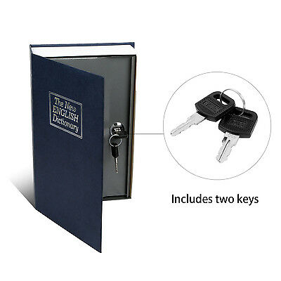 Deluxe Dictionary Book Secret Hidden Cash Safe Money Box Security Key Lock Us