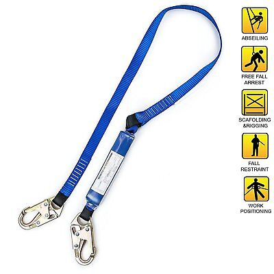 Spidergard 6ft Shock Absorber Single Leg Lanyard With Two Snap Hooksbl -spld001