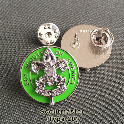 Scoutmaster Position Insignia Badge, One Pair (2) (Scout Scouter Boy Pin)