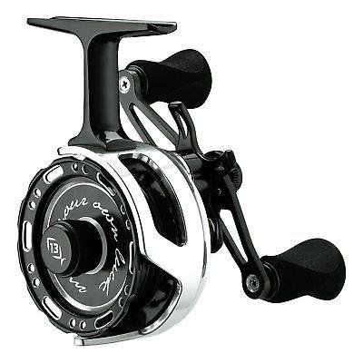 13 Fishing Black Betty 6061 Left Hand Ice Fishing Reel W  Free Hat   60612015 Lh