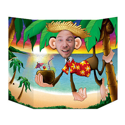 Luau Monkey Palm Tree Photo booth Prop beach pool BIRTHDAY party DECORATION](Party Monkey)
