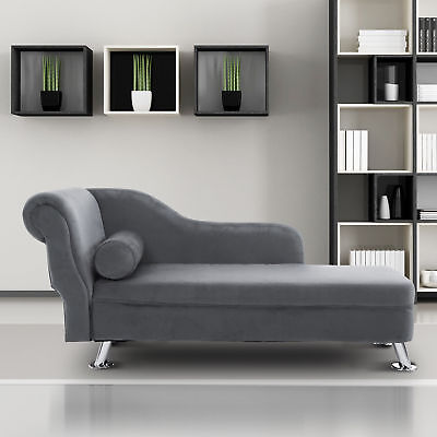 Deluxe Chaise Longue Designer Vintage Style Lounge Day Bed Retro Sofa W/ Cushion