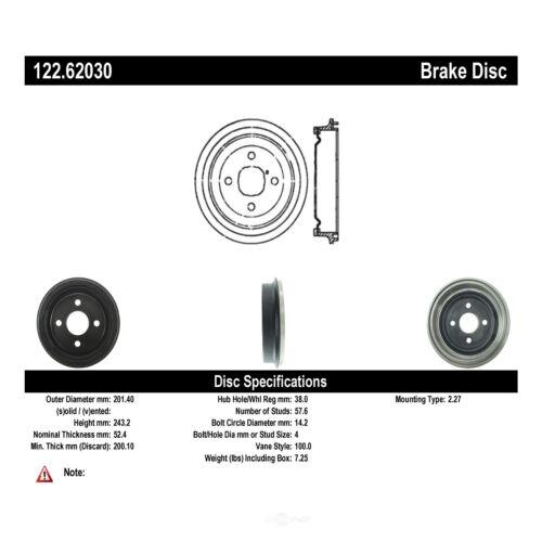 Brake Drum Rear Centric 123.63005