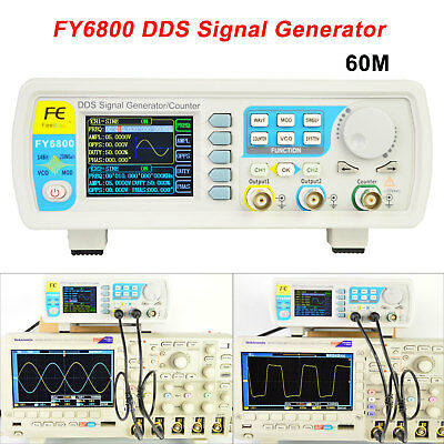 Fy6800-60m Dds Functional Signal Generator Dual-channel Pulse Arbitrary Waveform