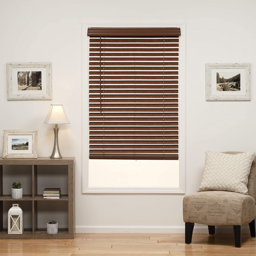 DEZ Furnishings QJBK720640 2 in. Cordless Faux Wood Blind, 7
