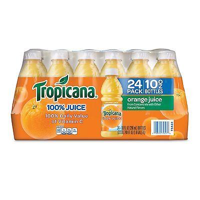 Tropicana 100% Bottled Orange Juice - 24 ct Case 10 oz Bottles from Concentrate
