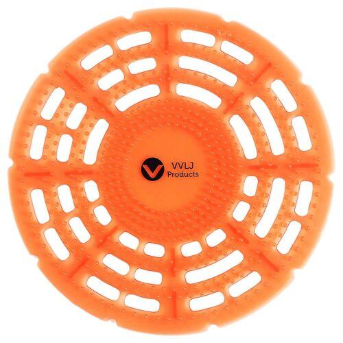 Urinal Screens Deodorizer 10 Pack Anti Splash Mat Orange Mango Fragrance Scent