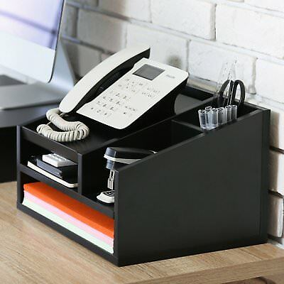 Desk Organizer Desktop Phone Stand File Supplies Blackhomeoffice