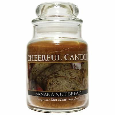 Cheerful Giver Banana Nut Bread Candle 6 Ounce Baby Glass Jar New