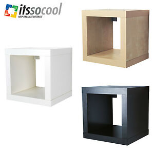 ikea kallax shelf shelving unit 1 shelf book case 3 different colours ebay. Black Bedroom Furniture Sets. Home Design Ideas