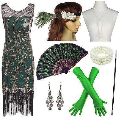 Roaring Twenties Prom (1920s Flapper Dress Great Gatsby Vintage 20s Roaring Evening Sequins Prom)