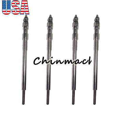 4 Pieces Glow Plug For Kubota Kx080-3t M5040dt M6040dt M7040dt Svl75 Svl90