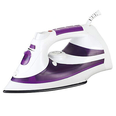 Compact Steam Iron 1200W Non-Stick Soleplate Self-Cleaning Function Clothes Iron