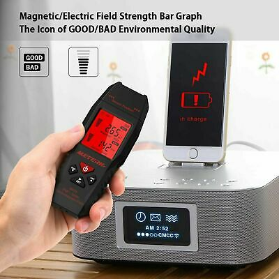 2in1 Electric &Magnetic Electromagnetic Field Radiation Detector EMF Tester A0P7