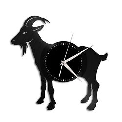 Goat Vinyl Wall Clock Record Famous Animal Gift Home and Office Decoration