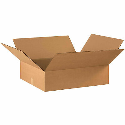 22 X 18 X 6 Flat Cardboard Corrugated Boxes 65 Lbs Capacity Ect-32 Lot Of